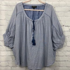 Lane Bryant Oversized Top Lace-up Front Plus